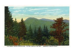 Blue Ridge Mountains, North Carolina - Great Craggy Mountains View by Lantern Press
