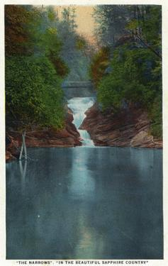Blue Ridge Mountains, North Carolina - The Narrows by Lantern Press