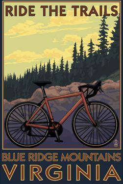 Blue Ridge Mountains, Virginia - Ride the Trails by Lantern Press
