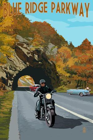 Blue Ridge Parkway - Motorcycle Scene by Lantern Press