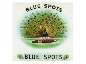 Blue Spots Brand Cigar Box Label by Lantern Press