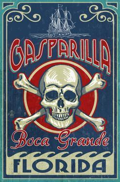 Boca Grande, Florida - Gasparilla Skull and Crossbones by Lantern Press