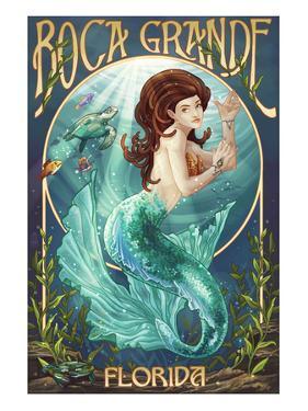 Boca Grande, Florida - Mermaid by Lantern Press