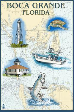 Boca Grande, Florida - Nautical Chart by Lantern Press