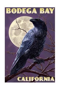Bodega Bay, California - Raven by Lantern Press