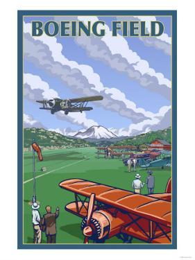 Boeing Field, Seattle, Washington by Lantern Press