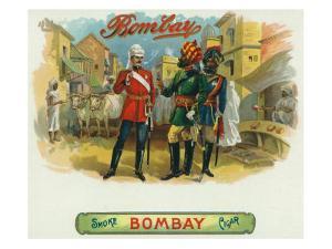 Bombay Brand Cigar Box Label by Lantern Press