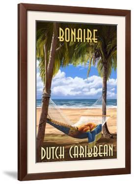 Bonaire, Dutch Caribbean - Hammock and Palms by Lantern Press