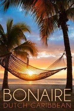 Bonaire, Dutch Caribbean - Hammock and Sunset by Lantern Press