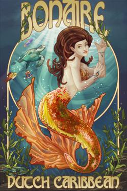 Bonaire, Dutch Caribbean - Mermaid by Lantern Press