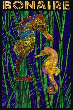 Bonaire, Dutch Caribbean - Seahorse Mosaic by Lantern Press