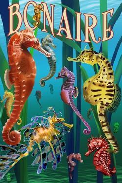 Bonaire, Dutch Caribbean - Seahorses by Lantern Press