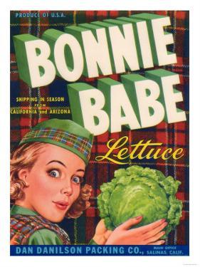 Bonnie Babe Lettuce Label - Salinas, CA by Lantern Press