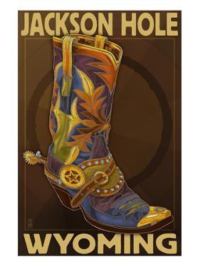 Boot - Jackson Hole, Wyoming by Lantern Press