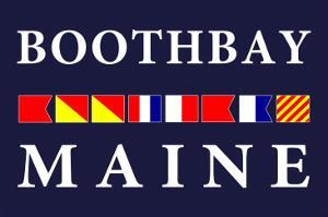 Boothbay, Maine - Nautical Flags by Lantern Press