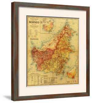 Borneo - Panoramic Map by Lantern Press