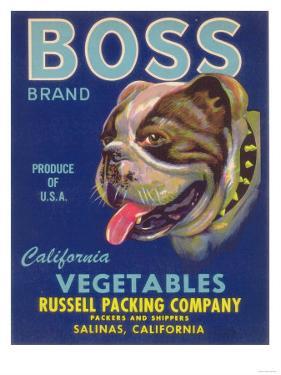Boss Vegetable Label - Salinas, CA by Lantern Press