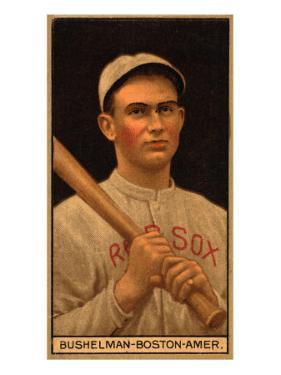 Boston, MA, Boston Red Sox, J. F. Bushelman, Baseball Card by Lantern Press