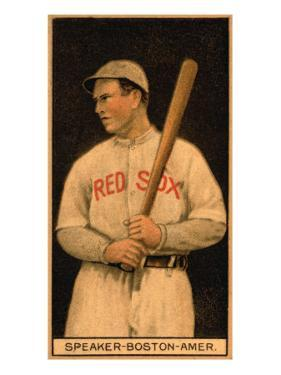 Boston, MA, Boston Red Sox, Tristam Speaker, Baseball Card by Lantern Press