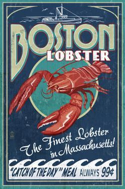 Boston, Massachusetts - Lobster by Lantern Press