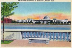 Boston, Massachusetts, Panoramic View of MIT Campus by Lantern Press