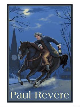 Boston, Massachusetts - Paul Revere's Ride by Lantern Press