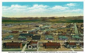 Boulder City, Nevada, Panoramic View of the Town for the Hoover Dam Workers by Lantern Press