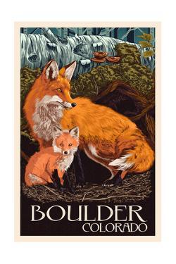 Boulder, Colorado - Fox and Kit by Lantern Press
