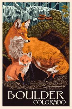Boulder, Colorado - Fox and Kit by Lantern Press