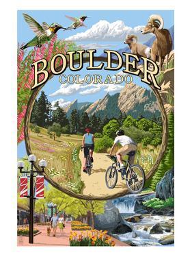 Boulder, Colorado - Montage Views by Lantern Press