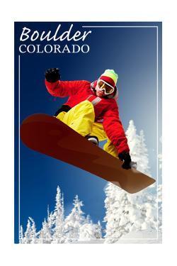 Boulder, Colorado - Snowboarder by Lantern Press