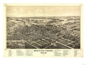 Bowling Green, Ohio - Panoramic Map by Lantern Press