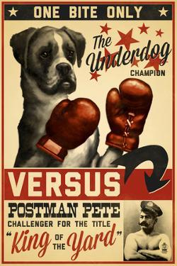 Boxer - Retro Boxing Ad by Lantern Press