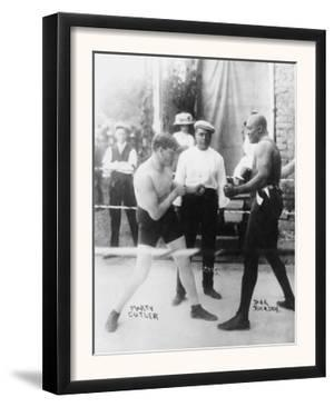 Boxers Marty Cutler and Jack Johnson Photograph by Lantern Press