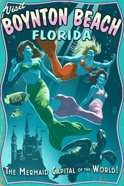Boynton Beach, Florida - Live Mermaids by Lantern Press