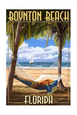Boynton Beach, Florida - Palms and Hammock by Lantern Press