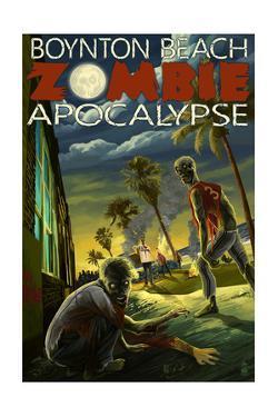 Boynton Beach, Florida - Zombie Apocalypse by Lantern Press