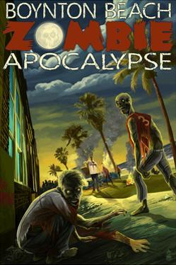 Boynton Beach, Florida - Zombie Apocalypse by Lantern Press