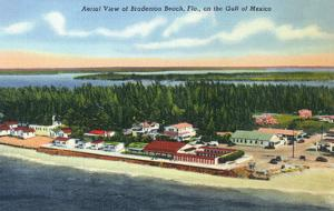 Bradenton, Florida - Aerial View of the Beach by Lantern Press