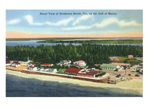 Bradenton, Florida - Aerial View of the Beach by Lantern Press
