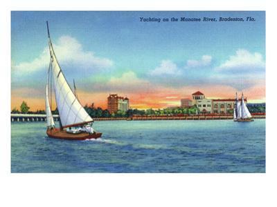 Bradenton, Florida - Sailboat on Manatee River by Lantern Press