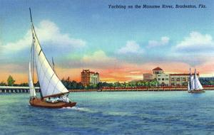 Bradenton, Florida - Sailboat on Manatee River by Lantern Press