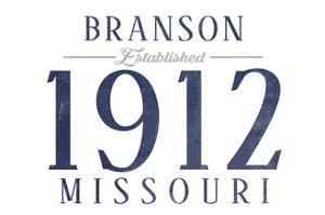 Branson, Missouri - Established Date (Blue) by Lantern Press