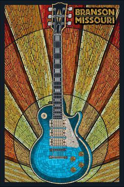 Branson, Missouri - Mosaic Guitar by Lantern Press