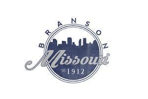 Branson, Missouri - Skyline Seal (Blue) by Lantern Press