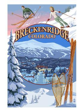 Breckenridge, Colorado Montage by Lantern Press