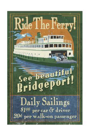 Bridgeport, Connecticut - Ferry Ride Vintage Sign