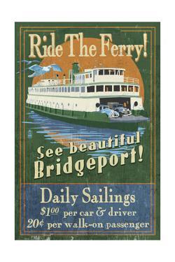 Bridgeport, Connecticut - Ferry Ride Vintage Sign by Lantern Press