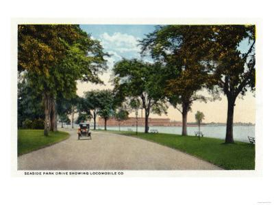 Bridgeport, Connecticut - Seaside Park Drive View Showing Locomobile Company by Lantern Press