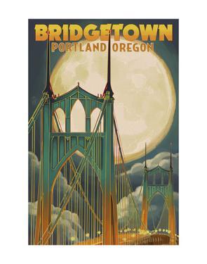 Bridgetown Portland Oregon by Lantern Press